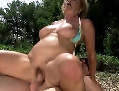 Granny beach sex