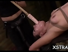 Monstrous strapon rip redhead'_s bawdy cleft